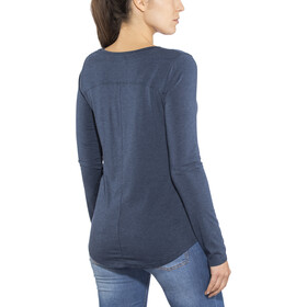 Prana Foundation Top manga larga cuello redondo Mujer, equinox blue heather